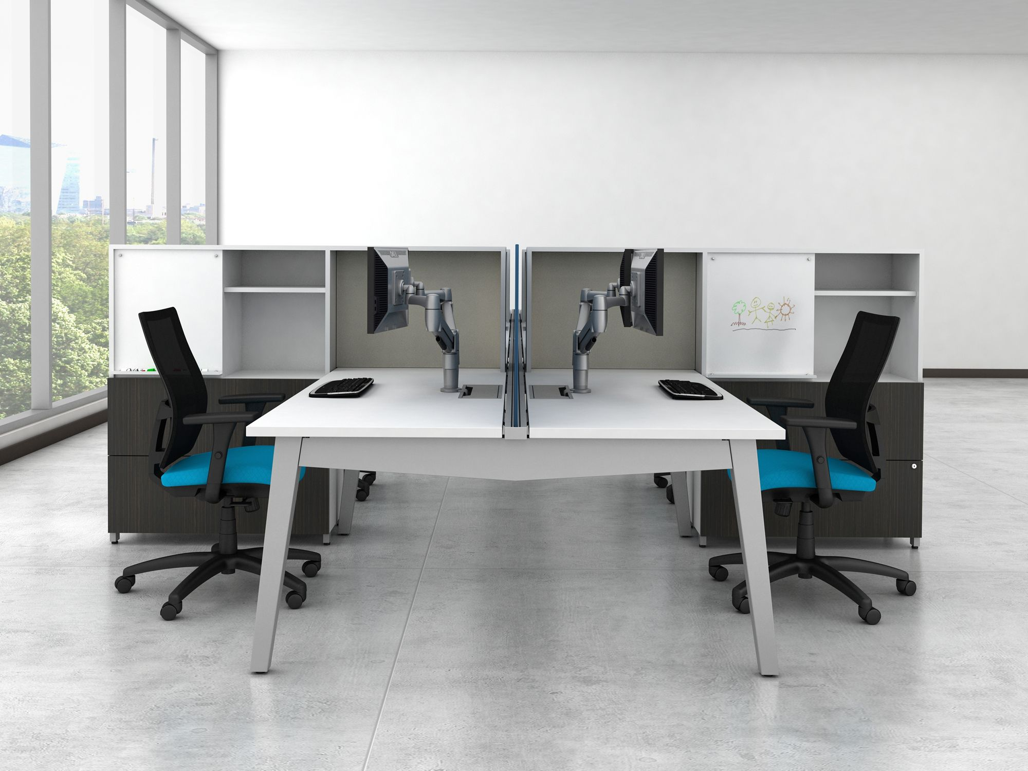 Awesome ... Furniture Systems By AIS! Accomplish This With Under The Desk Power And  Cables, Along With Easy To Access Tabletop Outlets. Create A Sleek  Impression To ...