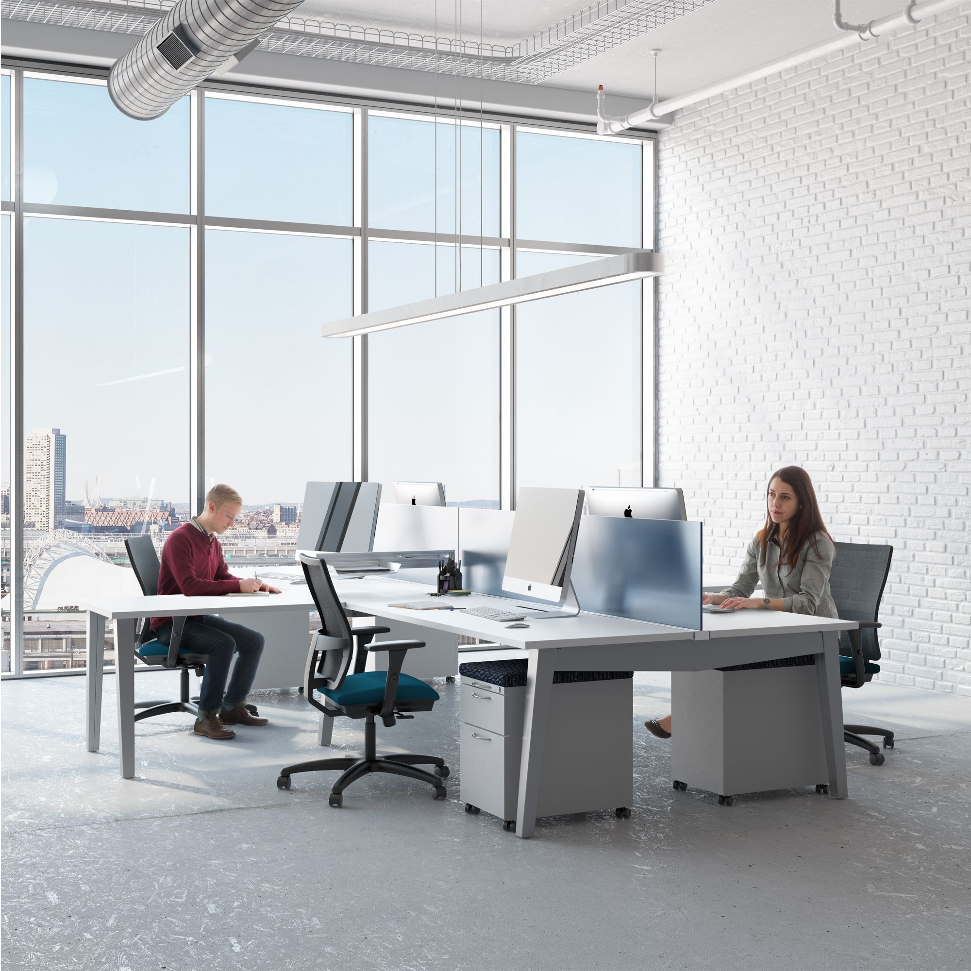 Save Space And Money, While Gaining Office Efficiency, Consider The Oxygen  Office Furniture Systems By AIS! Accomplish This With Under The Desk Power  And ...
